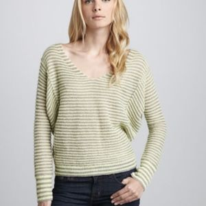 Free People Striped Linen Wool Blend Sweater XS
